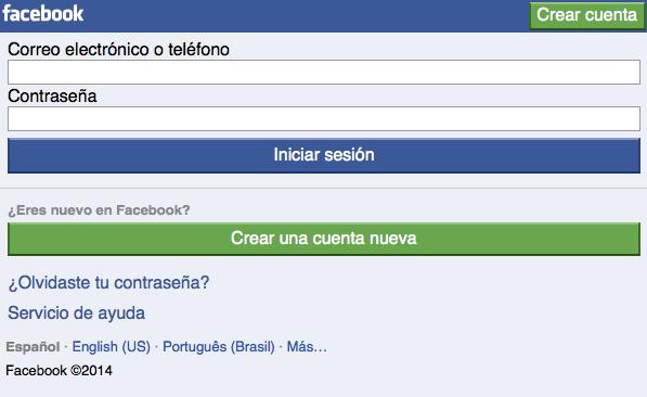 Facebook versión Móvil