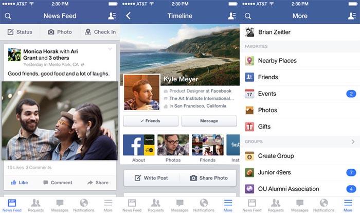 Descargar Facebook para iOS