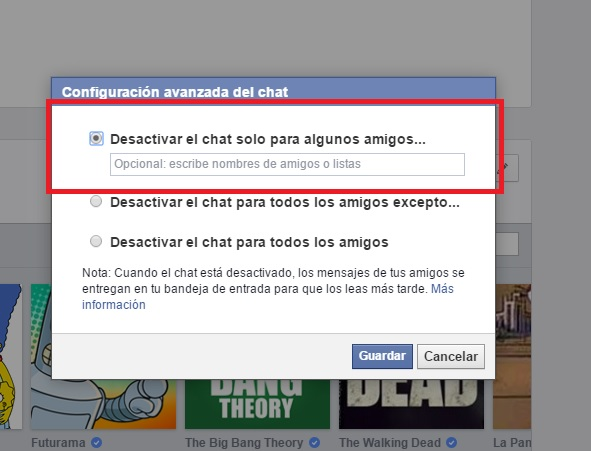 Facebook Messenger desconectado